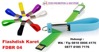 Rubberchain and metal usb , fdbr04 - USB Karet Gantungan Kunci