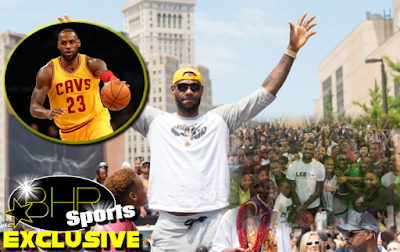 NBA Star Lebron James Gives Back To The Community By Taking 5,000 Families To An Amusement park