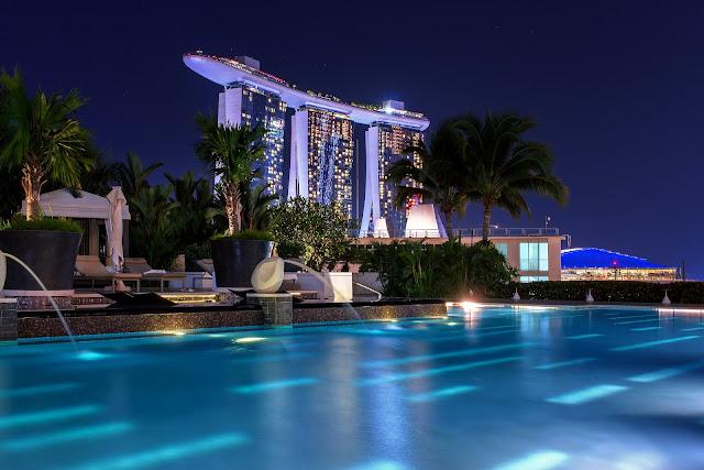 hotel, beautiful, night, pool