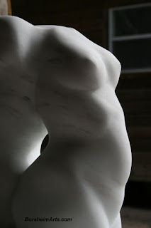 soft curves stone Back to Back marble sculpture direct carving figure art