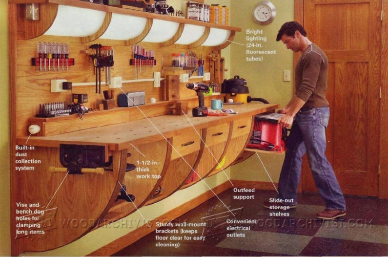 Brilliant Wall Hung Workbench Quite A Looker Spiritservingveterans Wood Chair Design Ideas Spiritservingveteransorg