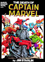 Death of Captain Marvel graphic novel cover art by Jim Starlin
