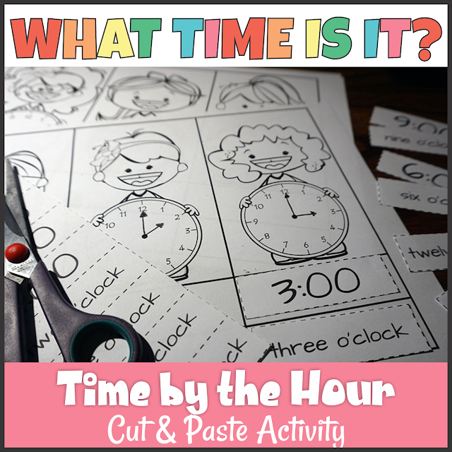 https://www.teacherspayteachers.com/Product/Telling-Time-to-the-Hour-Cut-and-Paste-Activity-2884129