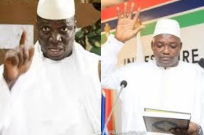 """""""I am going nowhere"""" Yayha Jammeh says in reaction to Adama Barrow's swearing in"""