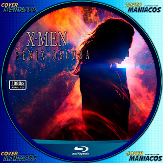 GALLETA LABEL X-MEN FÉNIX OSCURA-DARK PHOENIX 2019 [COVER BLU-RAY]