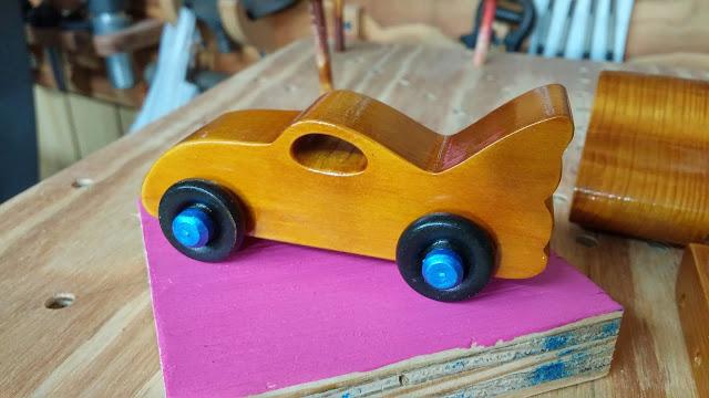 Wooden Toy Car Bat Car