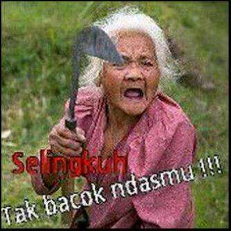Gambar lucu Bahasa Jawa 1