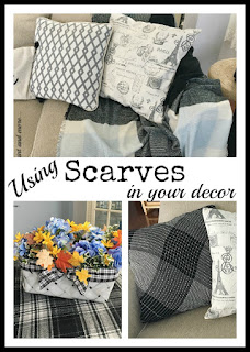 Vintage, Paint and more... using scarves in your decor