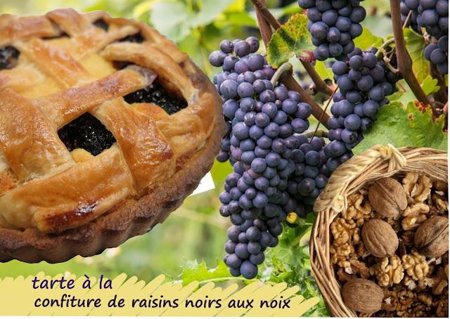Tarte linz à la confiture de raisins et noix, parve, Rosh Hashannah
