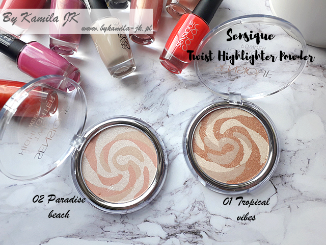 Sensique rozświetlacze Twist Highlighter Paradise beach Tropical vibes