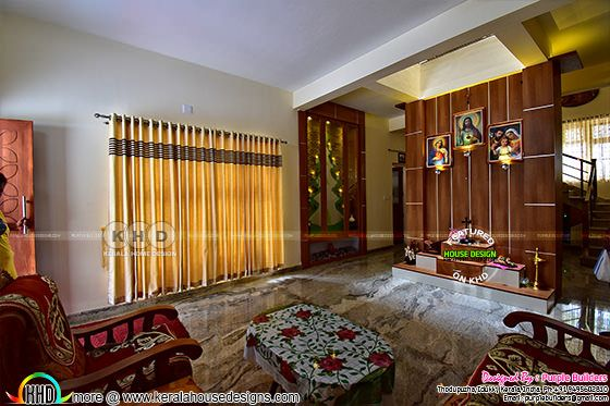 Living room finished in Kerala