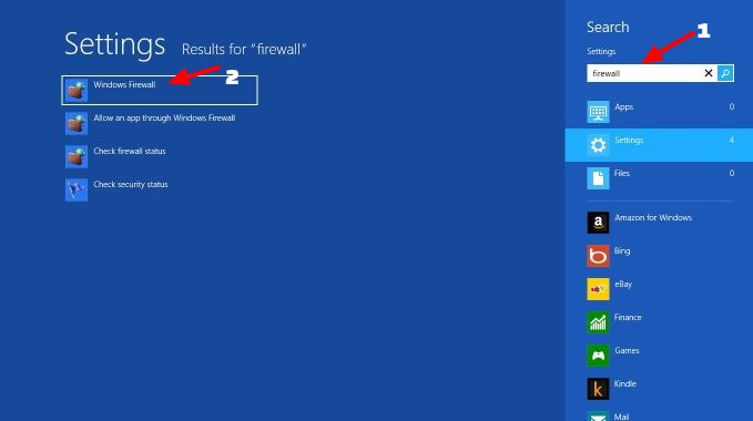 how to turn off domain firewall windows 8