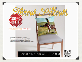 25% off Throw pillows by Boulder artist Tom Roderick