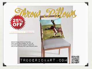 25% off Throw pillows by Boulder artist Tom Roderick