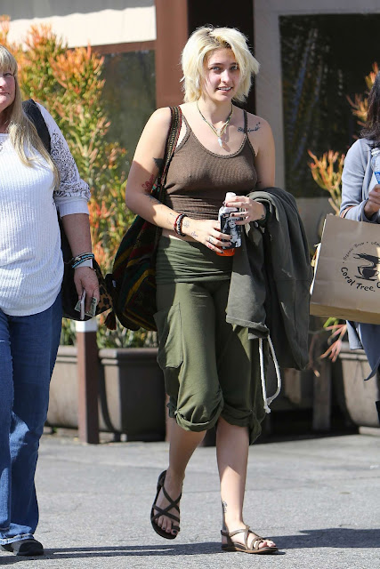Paris Jackson out in Encino