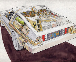 DAS BACK TO THE FUTURE DELOREAN DESIGN VON RON COBB 1984