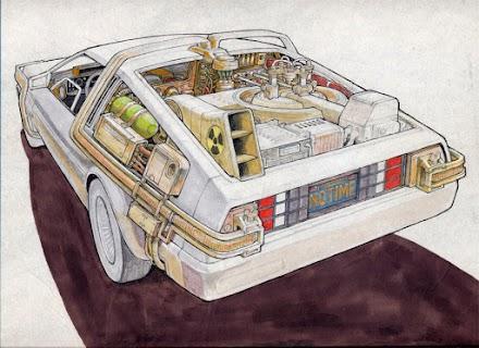DAS BACK TO THE FUTURE DELOREAN DESIGN VON RON COBB 1984