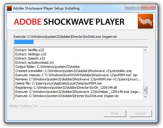 Adobe Shockwave Player Terbaru