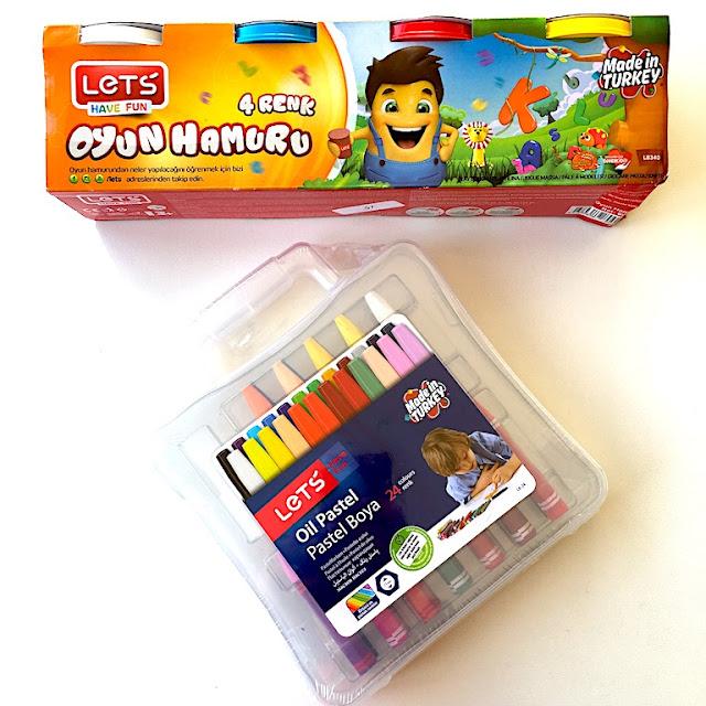 lets oyun hamuru lets pastel boya