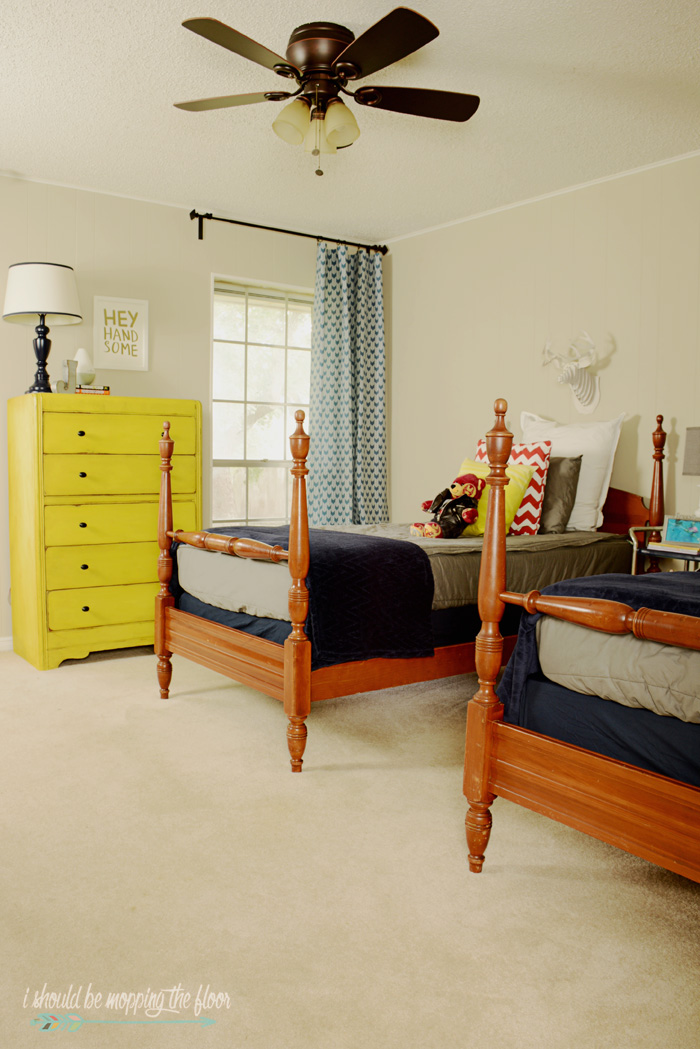 Tween Boy's Eclectic Bedroom