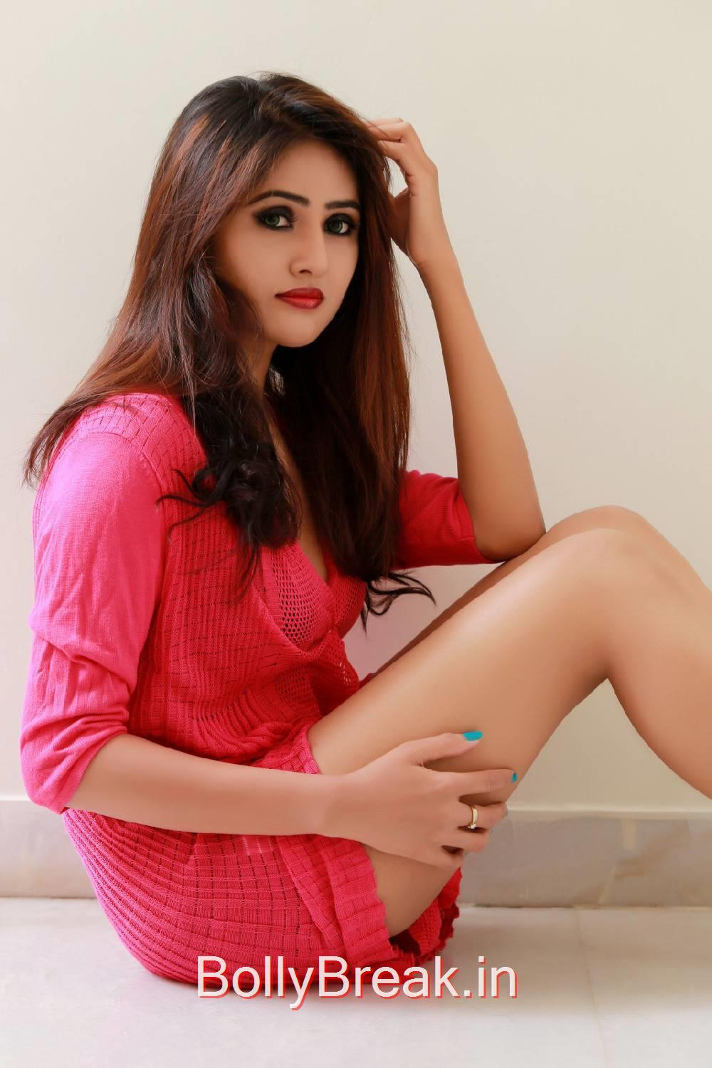 Sony Charishta Photoshoot Stills, Hot Actress Sony Charishta Red Nighty Photo Gallery 2015