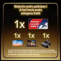Castiga 1 voucher de vacanta in valoare de 2000 euro + 1 laptop de gamer sau 1 super televizor