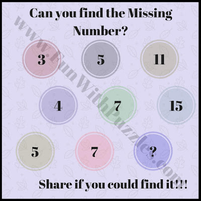 Can you find the missing number puzzle?