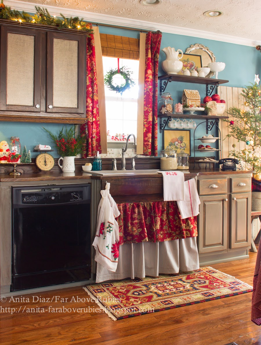 Christmas Kitchen- Far Above Rubies-How I Found My Style Sundays- Christmas Edition- From My Front Porch To Yours