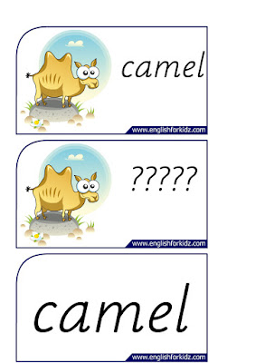 camel printable flashcards
