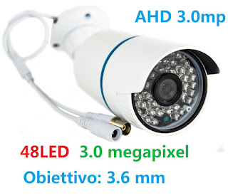 TELECAMERA 48 LED 3MP 3.6MM 7548