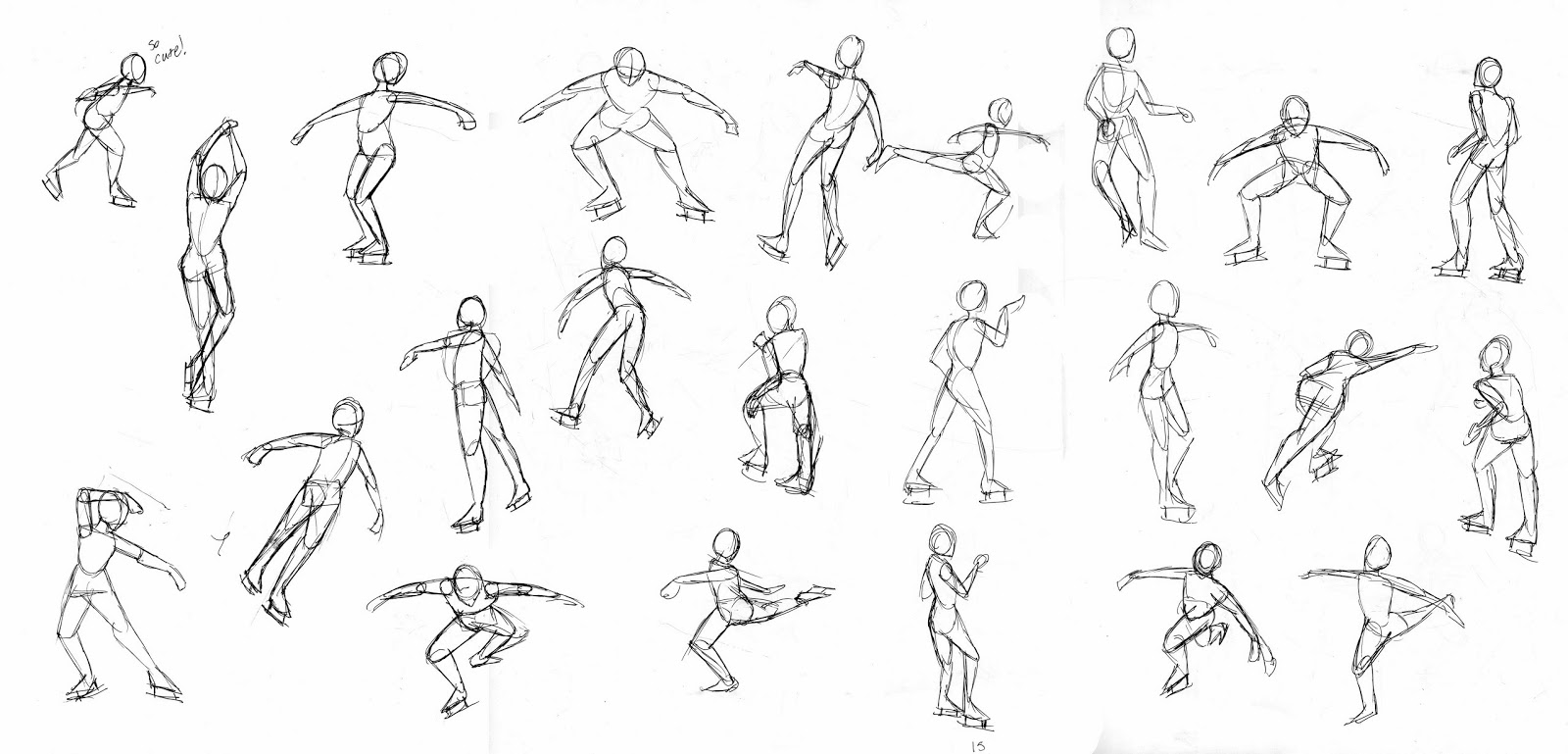 Ice Skater Drawing at GetDrawings | Free download  |Drawing Ice Skater