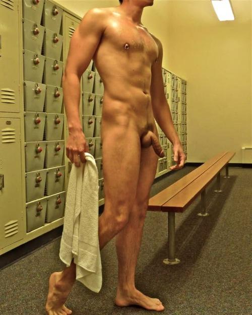 Gym shower nude something is