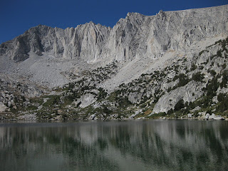 Ruby Lake with glacial peaks in the background, John Muir Wilderness, Eastern Sierras, California