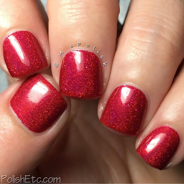 Grace-full Nail Polish - Rainbow Sparklers - McPolish - Scarlet Sparkles