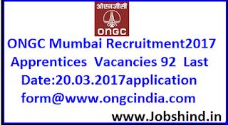 ONGC Mumbai Recruitment 2017