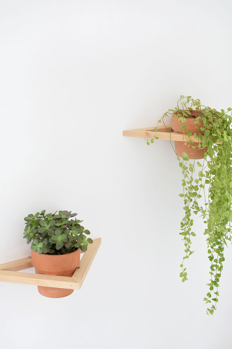 how to make a geometric wall planter
