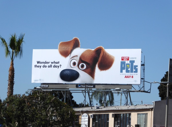 Secret Life of Pets movie billboard