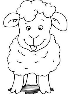 Gambar Mewarnai Domba Terbaru | gambarcoloring