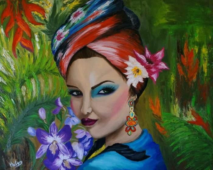 Красивое резнообразие цветов. Helen Bellart