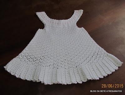 Vestido em Crochê Infantil
