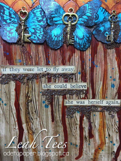Mixed Media Art Journal Leah Tees Ode to Paper