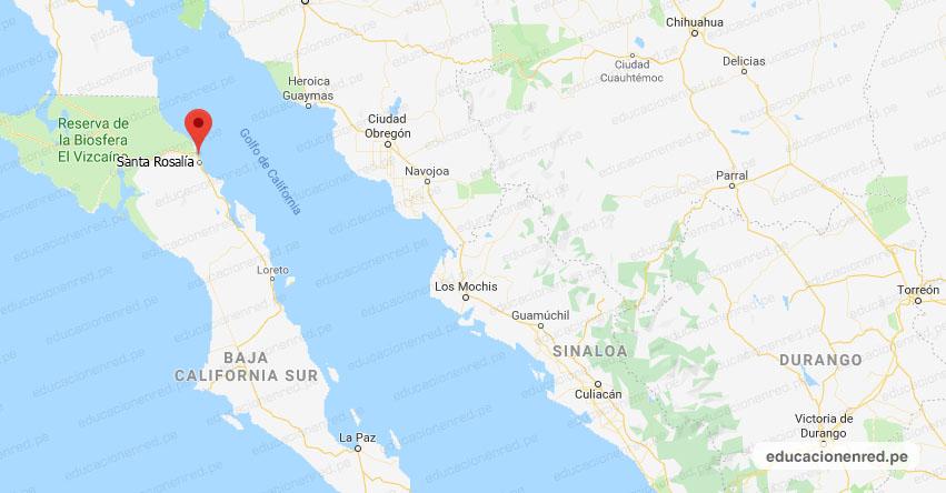 Temblor en México de Magnitud 4.1 (Hoy Domingo 01 Marzo 2020) Sismo - Epicentro - Santa Rosalía - Baja California Sur - B.C.S. - SSN - www.ssn.unam.mx
