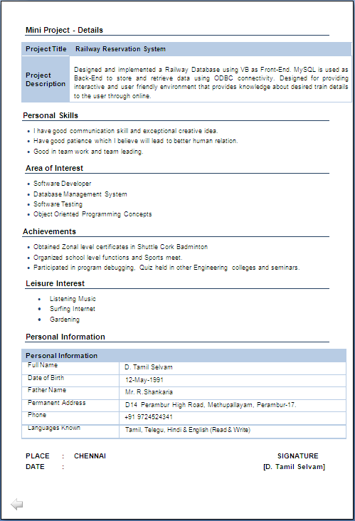 Resume Template In Doc Format Resume Template 781 Free Samples Examples Format Iti Fitter Resume Format