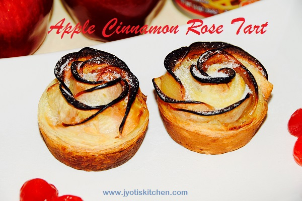 Apple Cinnamon Rose Tart Recipe with step by step photo