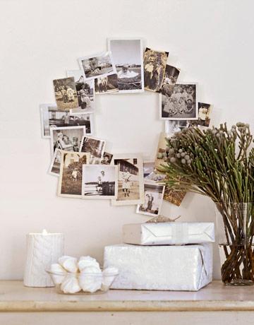 como usar fotos em enfeites de natal