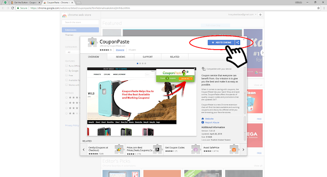CouponPaste Browser Extension - Chrome Webstore - Add to Chrome