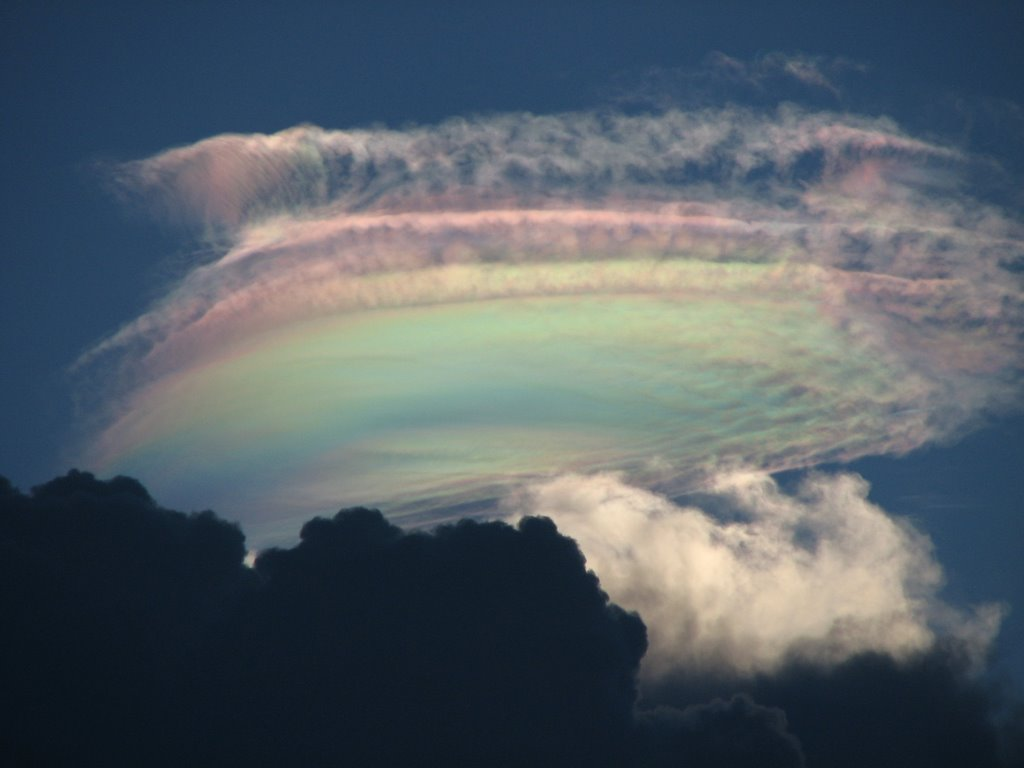 Beautiful sky, rainbow clouds
