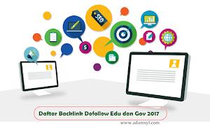 Daftar Backlink Dofollow Edu dan Gov 2017