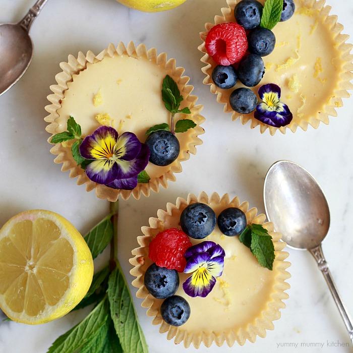 Vegan Paleo Lemon Tarts