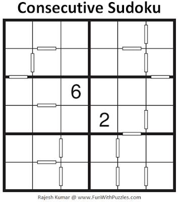 Consecutive Sudoku Puzzle (Mini Sudoku Series #112)
